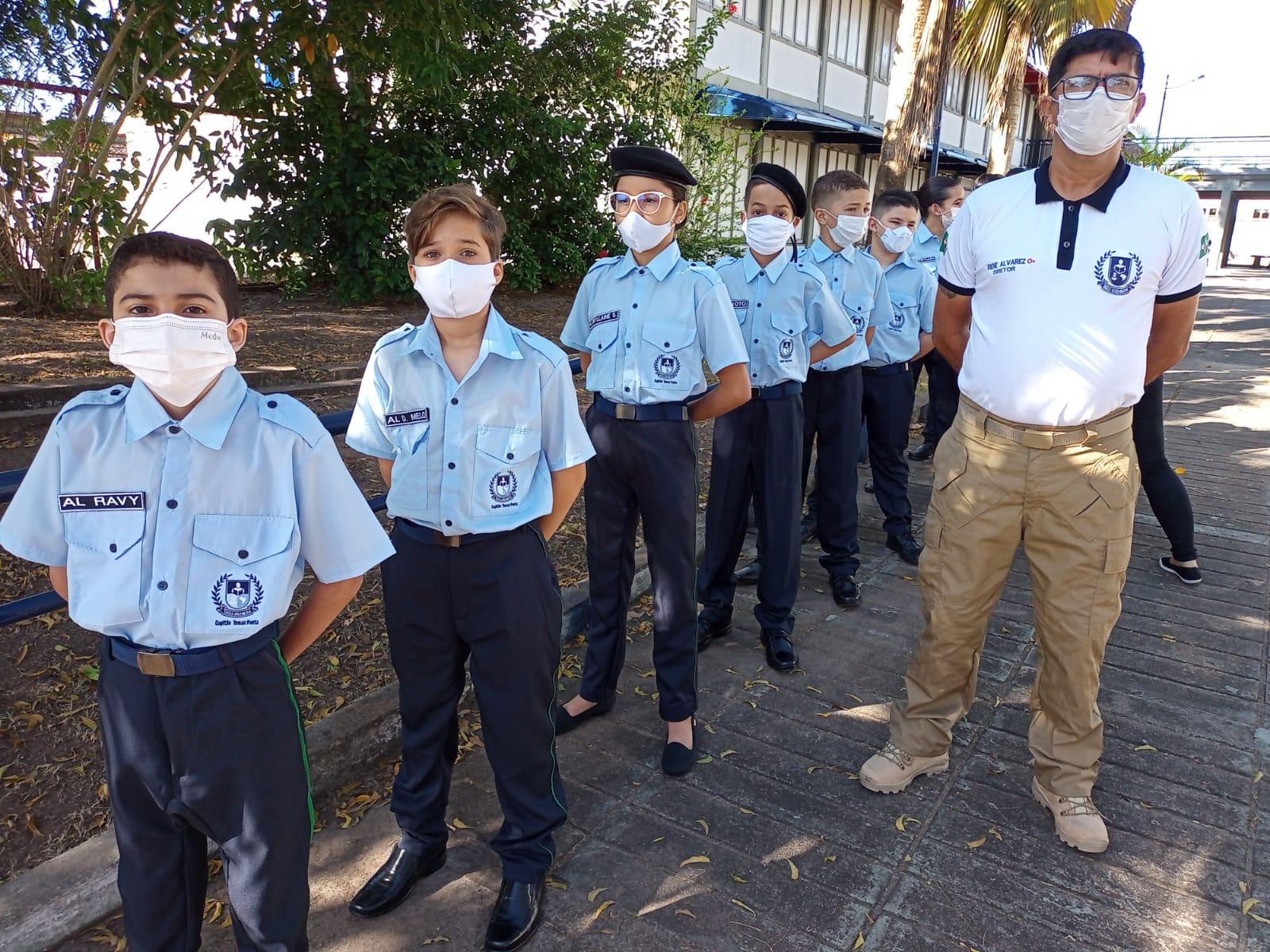 Santa Rita retorna aulas em modo híbrido e tem abertura da Escola Cívico-Militar